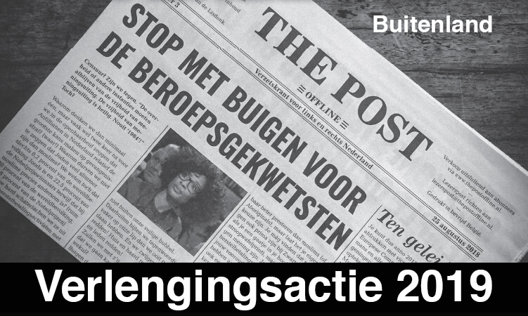 Verlenging Lidmaatschap The Post Offline Buitenland 2019