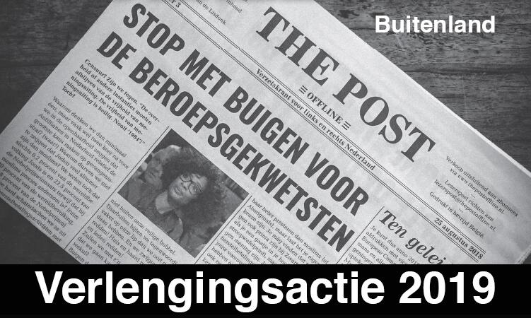 Verlenging Lidmaatschap The Post Offline Buitenland 2019