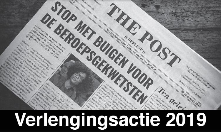 Verlenging Lidmaatschap The Post Offline 2019