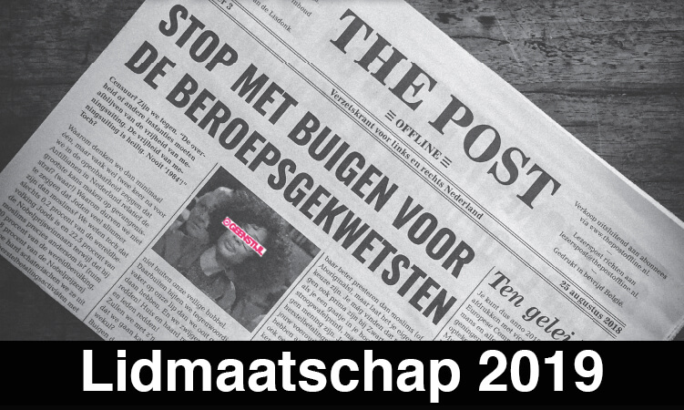Steunlidmaatschap The Post Offline 2019